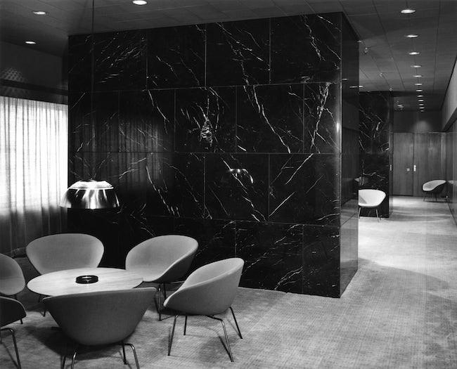 Royal Copenhagen Hotel pot chair Arne Jacobsen