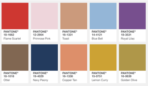 Pantone Fall Colour report London 2017