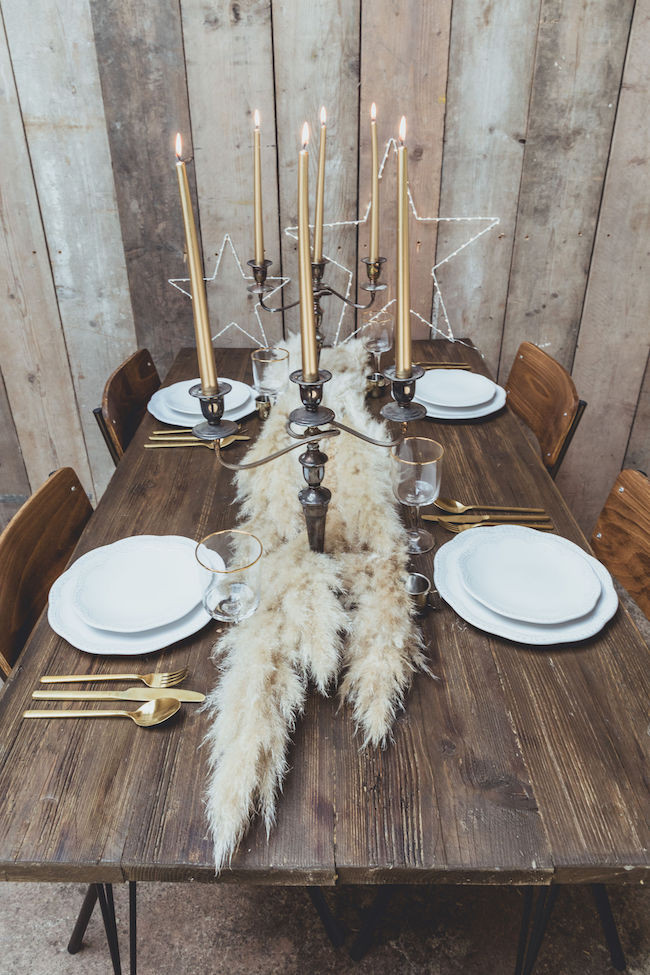 rustic wooden dining table by Vincent Trading