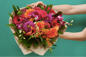 Bright Hand tied Bouquet delivered by Bloom Magic