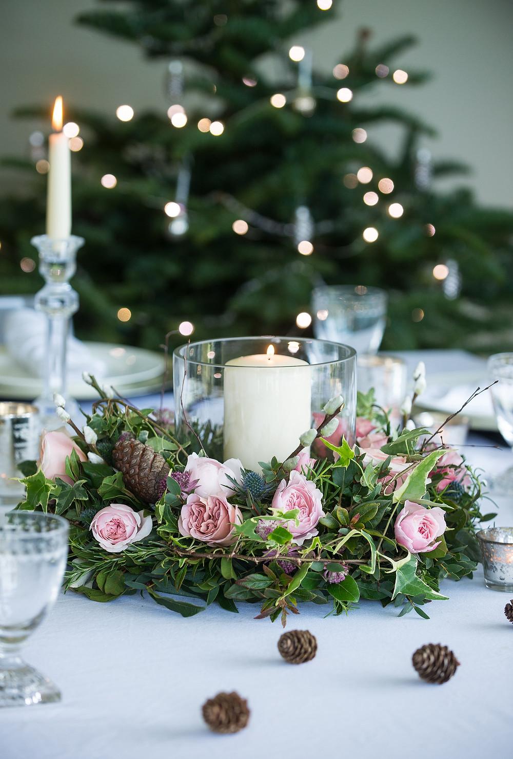 Floral Christmas wreath