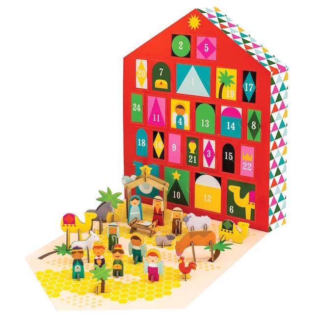 Colourful nativity advent calendar