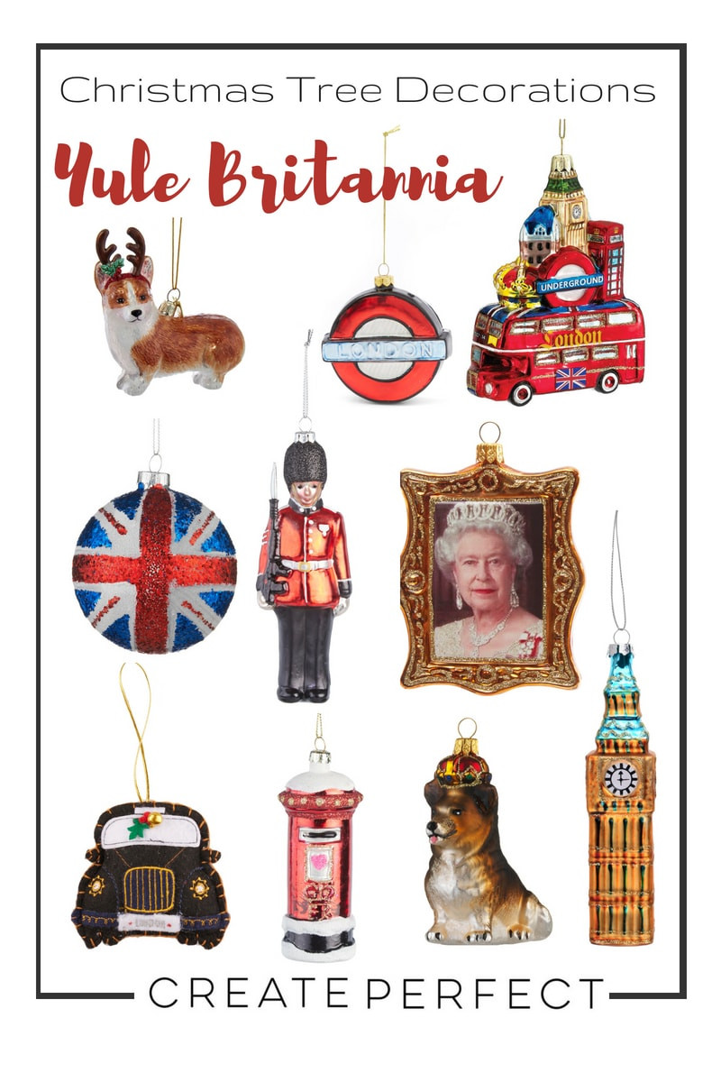 British Themed Christmas Decorations