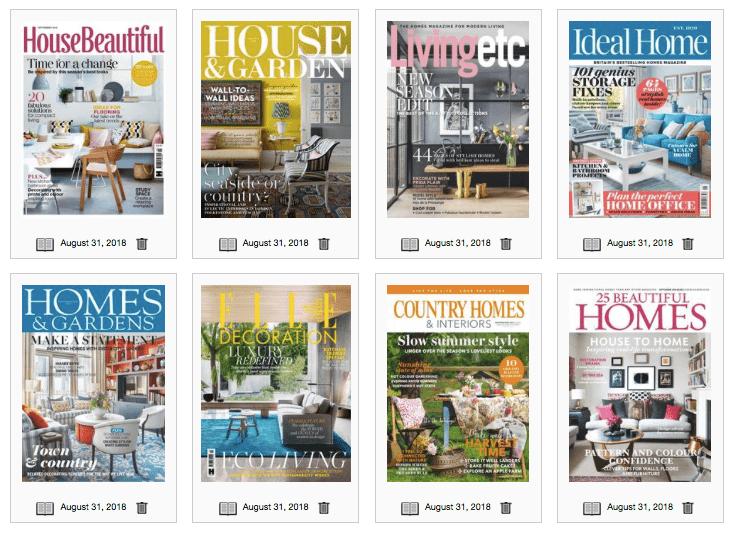 Free interior design magazines