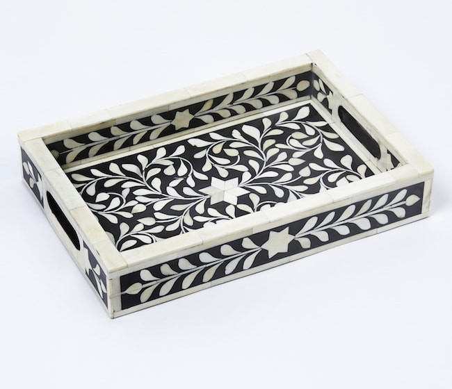 Bone inlaid tray available at Monsoon