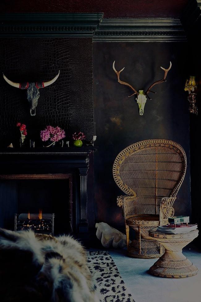 Dark gothic interior