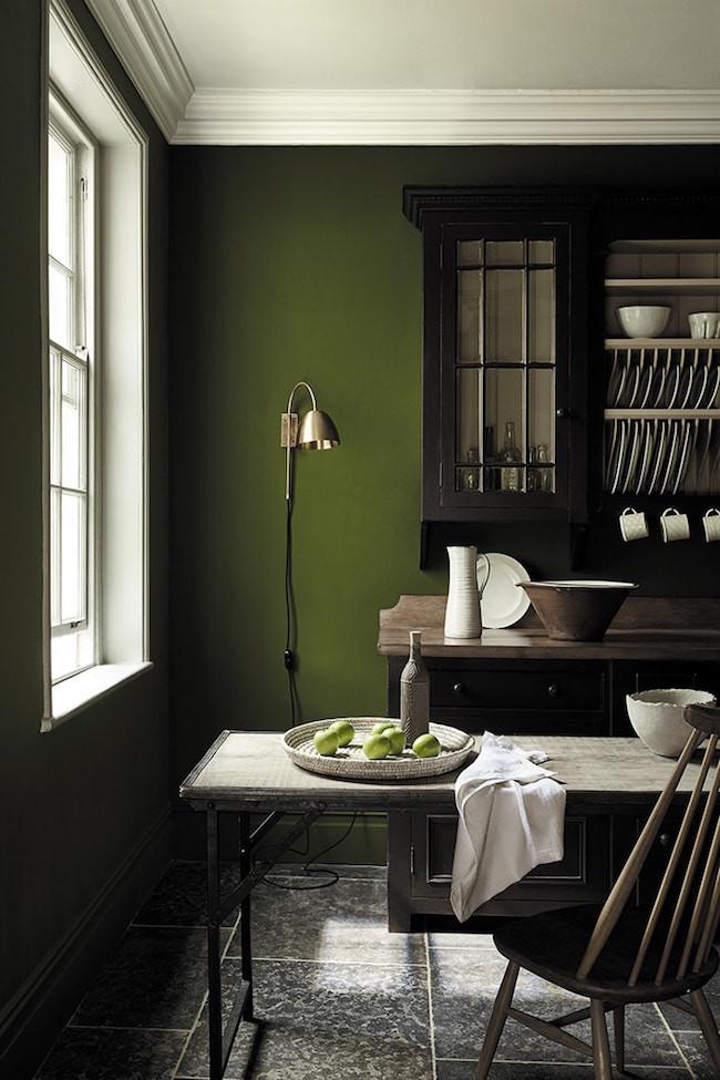 Little Greene Paint wooden kitchen
