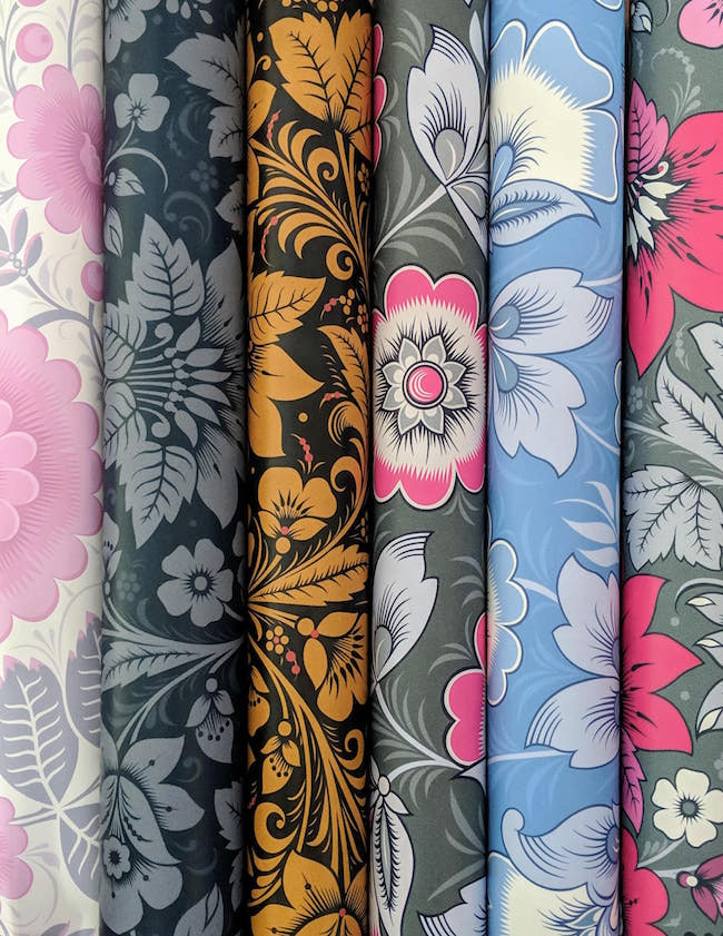 Different colours of Olenka Wallpaper