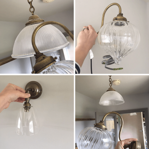 Hand blown glass pendant lighting