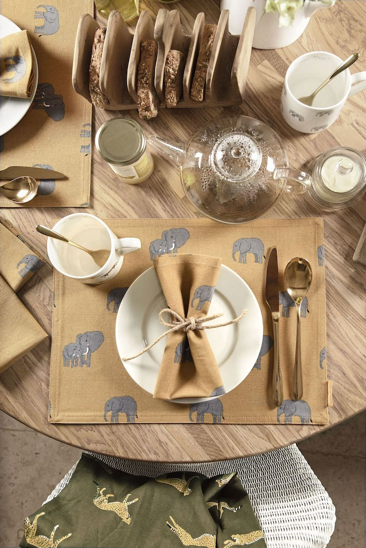 Elephant tableware from Sophie Allport