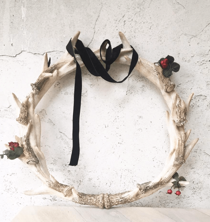 antlers Christmas wreath