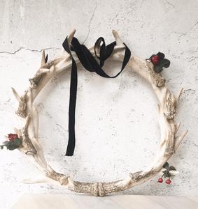 antlers Christmas wreath