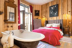 Bedroom artist apartment Krakow