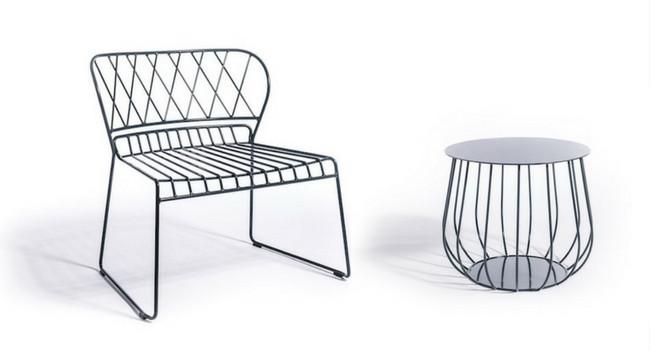 Rest Lounge chair Metal Garden furniture