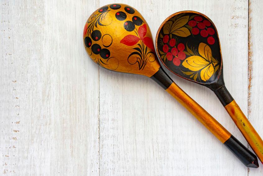 Khokhloma Wooden Spoons