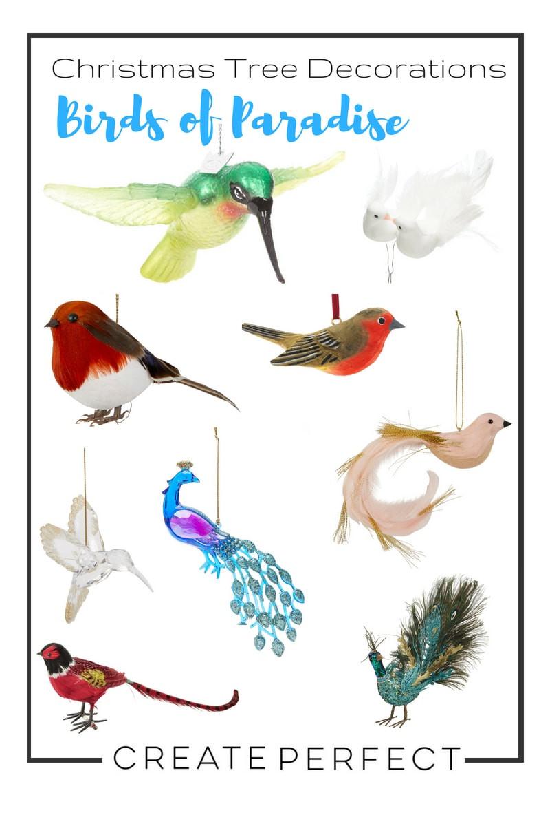Birds Christmas baubles