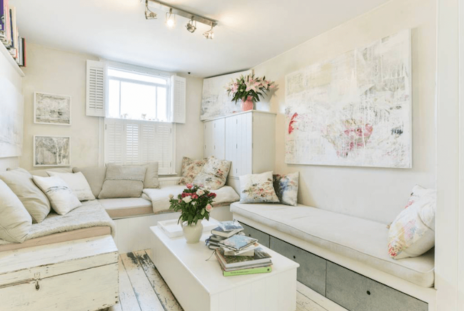 All white cottage lounge