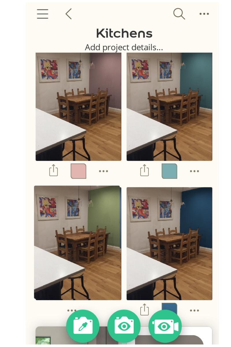 Dulux visualiser app kitchen project