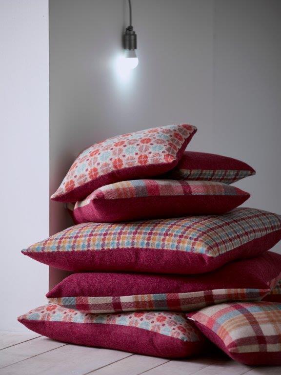 woollen cushions bronte by moon