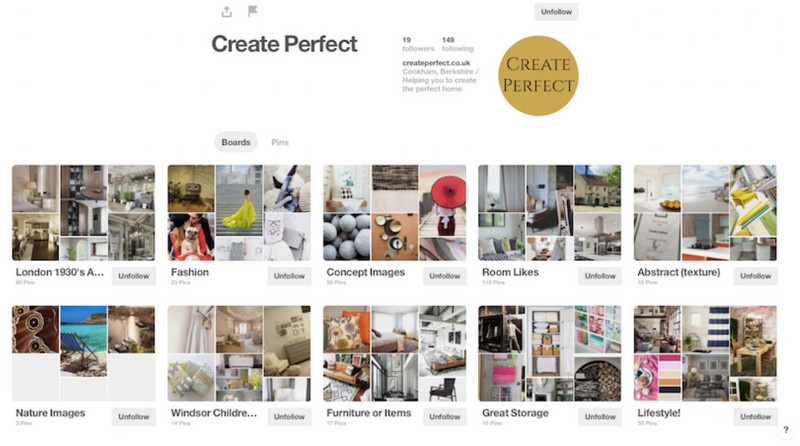 Create Perfect on Pinterest