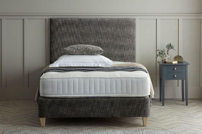 Bespoke Grey upholstered bed by Dormy House