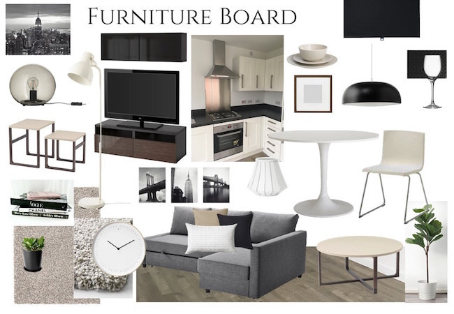 Furniture mood board