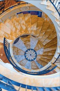 grand marble staircase by Euro Marble