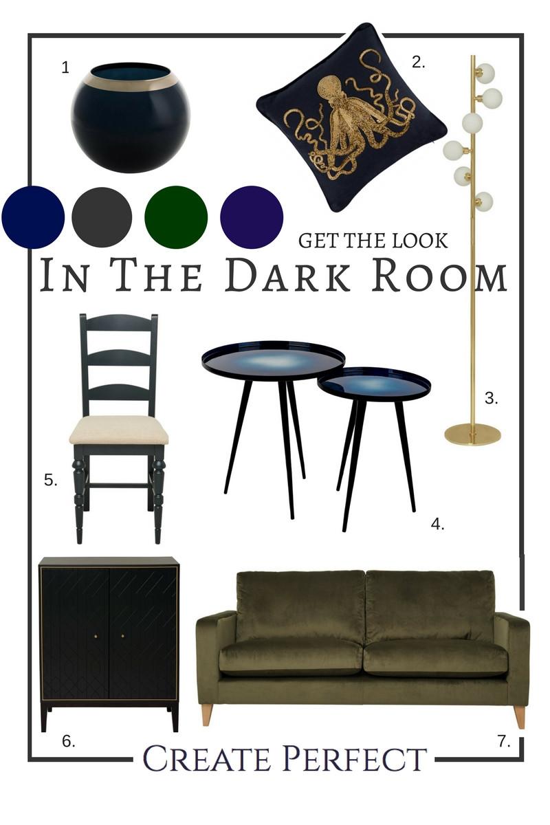 Furniture for dark interior design