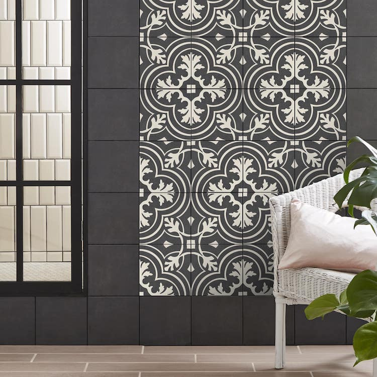 Style with tiles wall panel