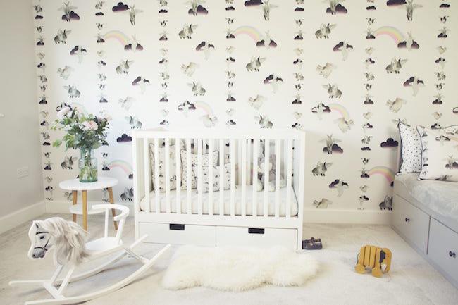 Flying bunnies wallpaper