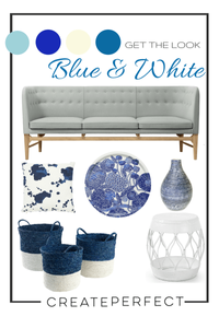 Blue and White Home Accessories