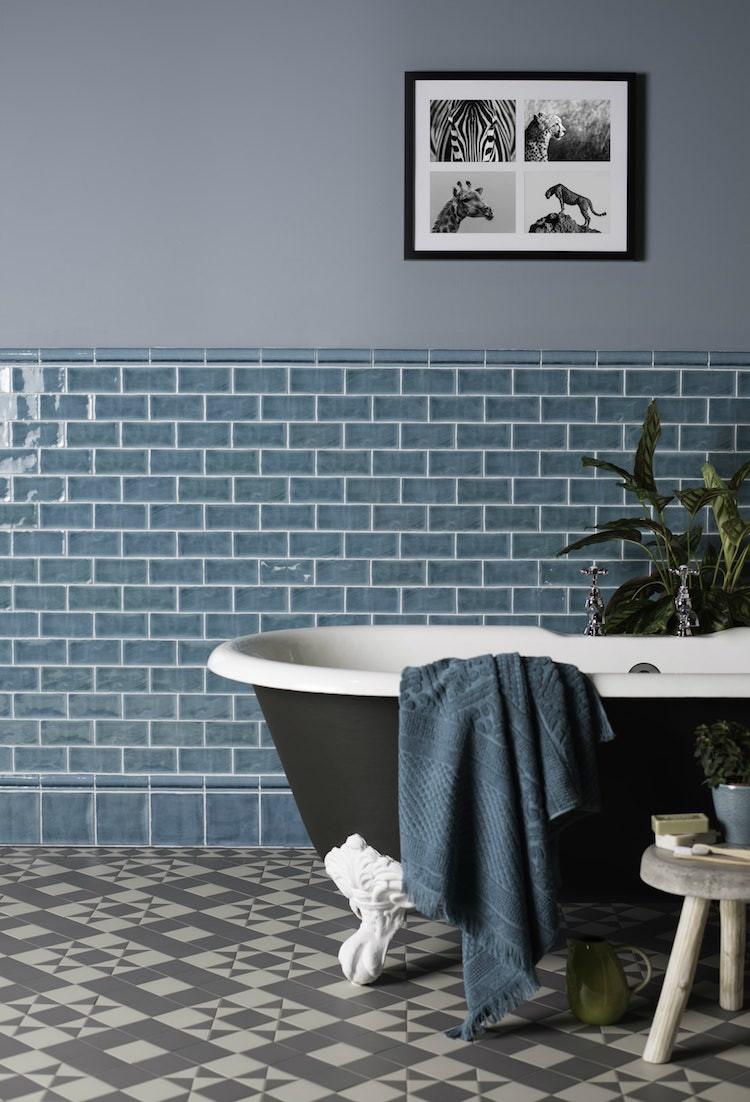 Metro tiles in a bathroom
