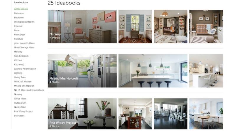 Create perfect Houzz Ideabooks
