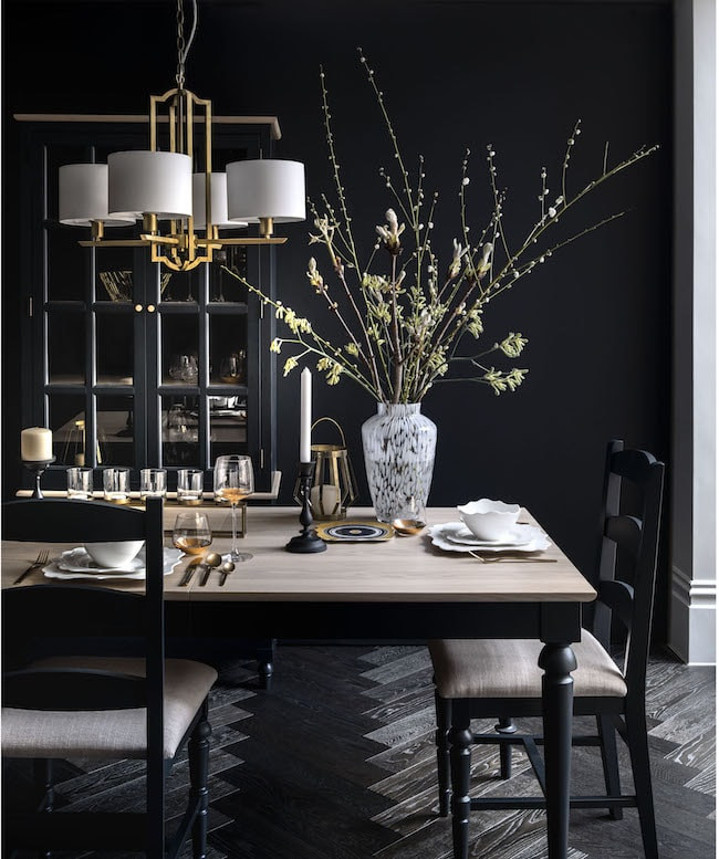 Dark interiors from Marks and Spencer
