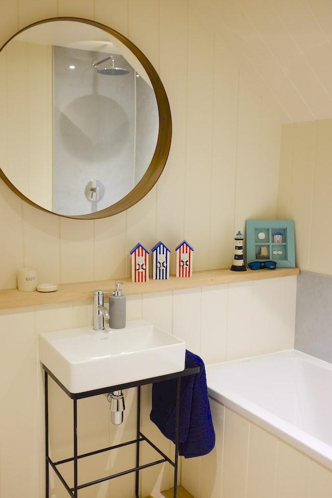 Ideal Home show beach hut  bathroom