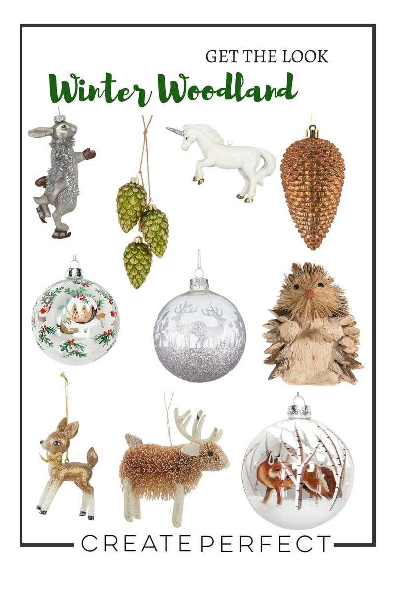 Woodland Creatures Christmas Baubles