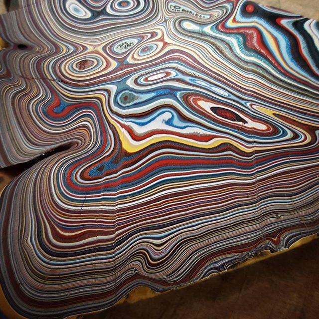 Rare Fordite Paint Slab