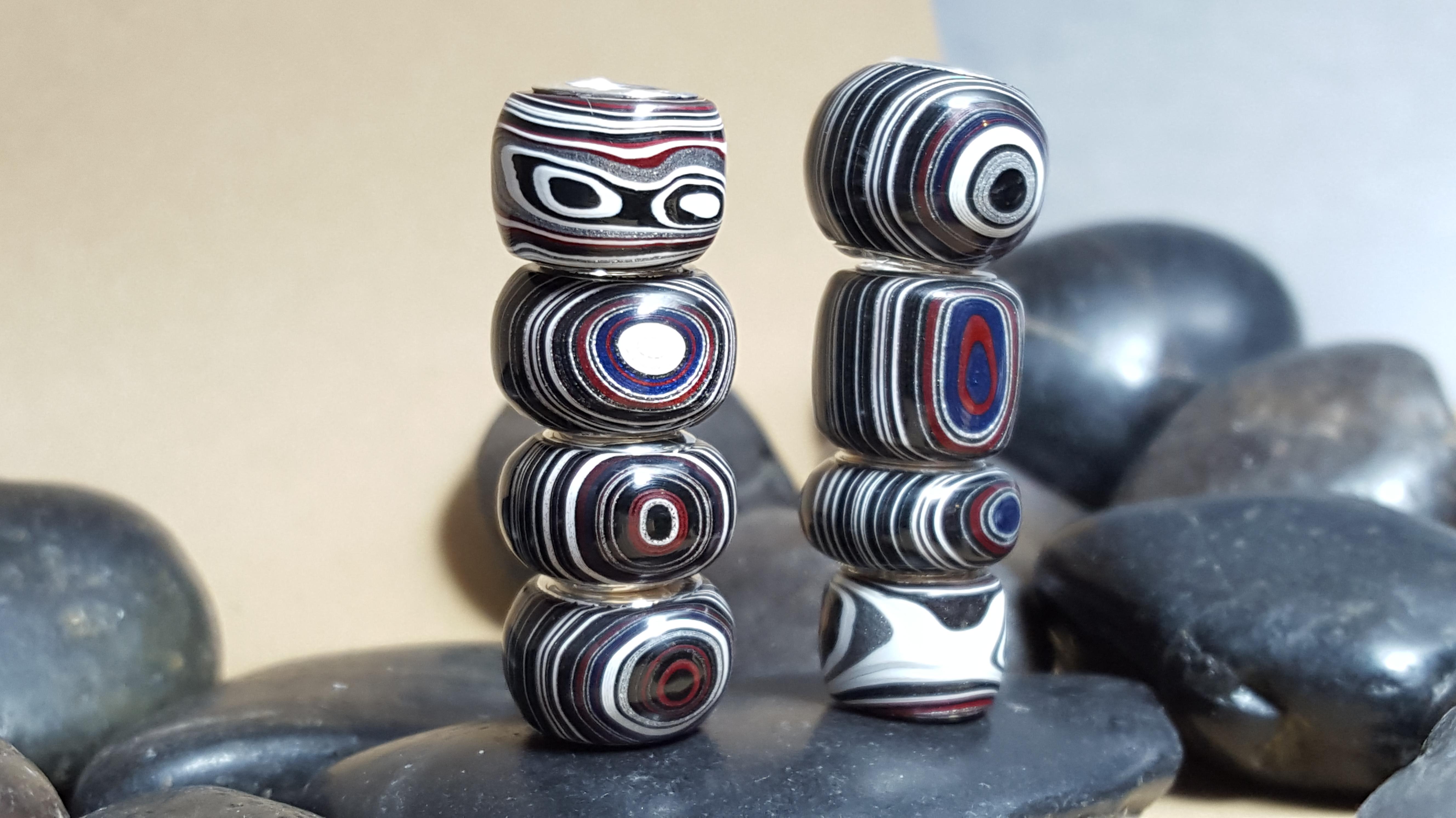 Custom Fordite Beads