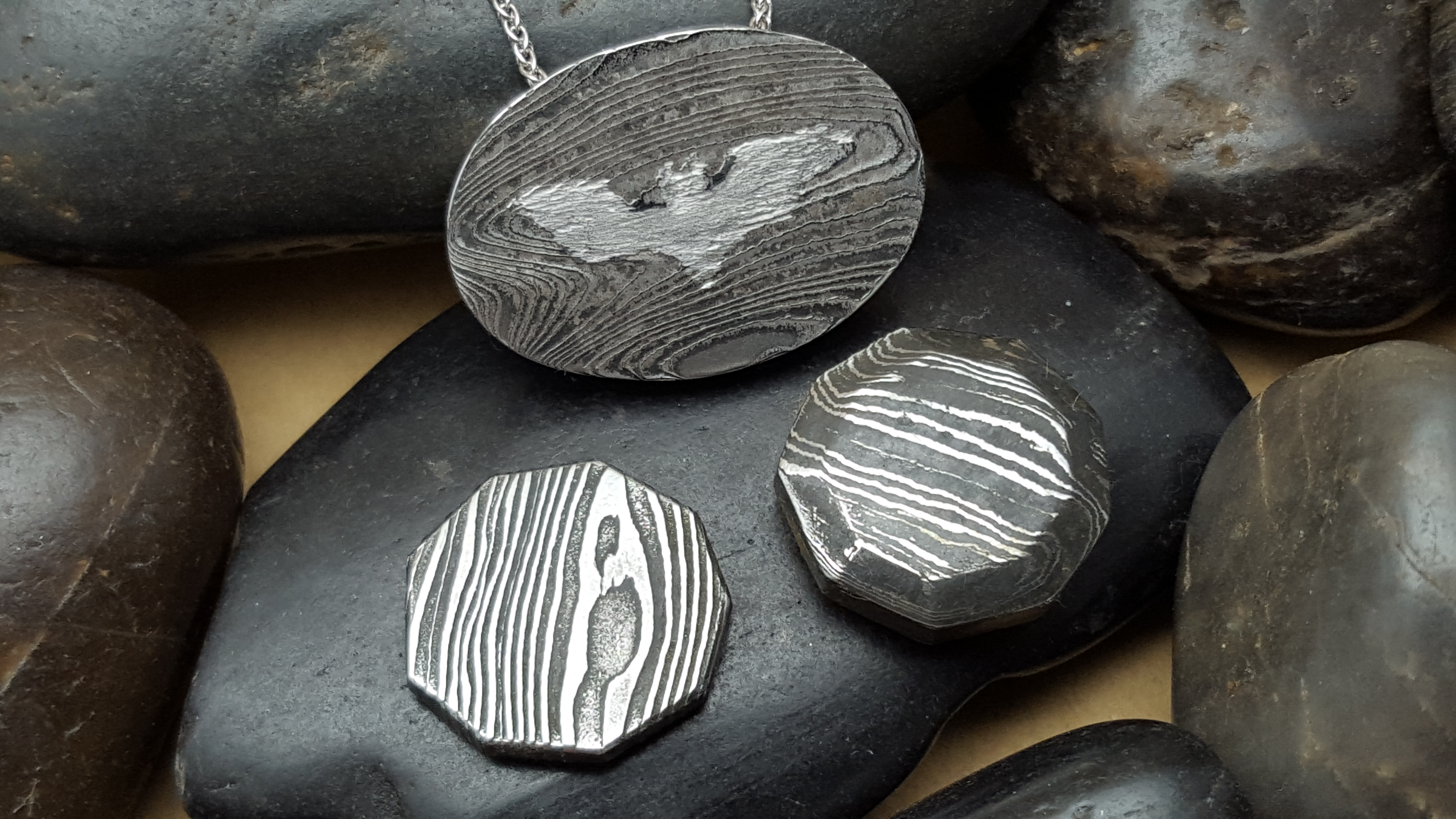 Damascus Steel Pendants