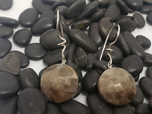 Petoskey Stone Faceted Earrings