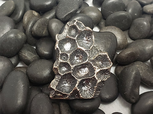 Petoskey Stone Inspired Lower Michigan pendant- Large