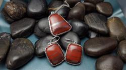 Custom Red Jasper with Hematite Set