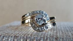 Custom Matching Diamond Wedding Band