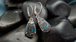 Custom Fordite Earrings