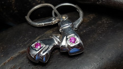 Pink Sapphire Boxing Gloves