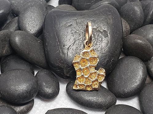 Petoskey Stone Inspired Lower Peninsula Michigan- Small Gold
