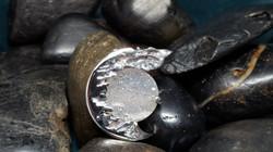 Custom Sterling Silver Drusy Pendant