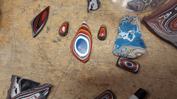 Custom Fordite Cabochons and Rough