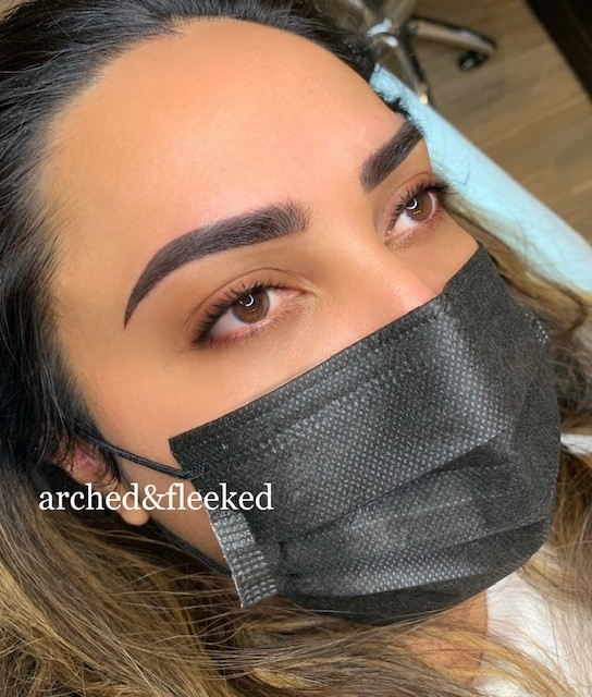 Ombre brows combination brows