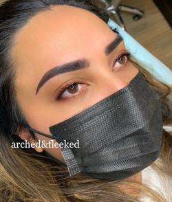 Ombre brows combination brows